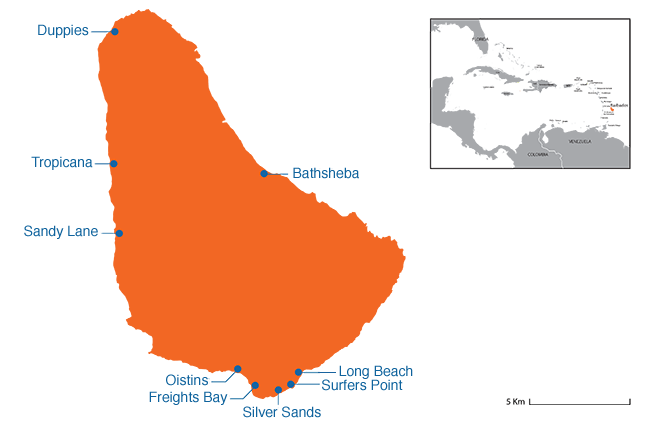 Barbados - Country map image