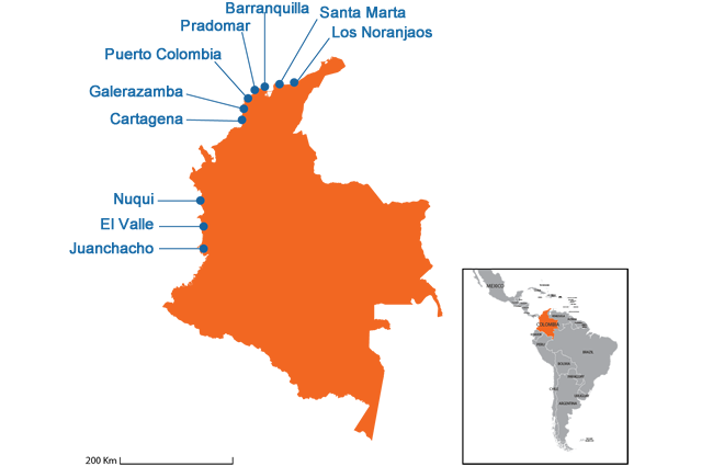 Colombia - Country map image