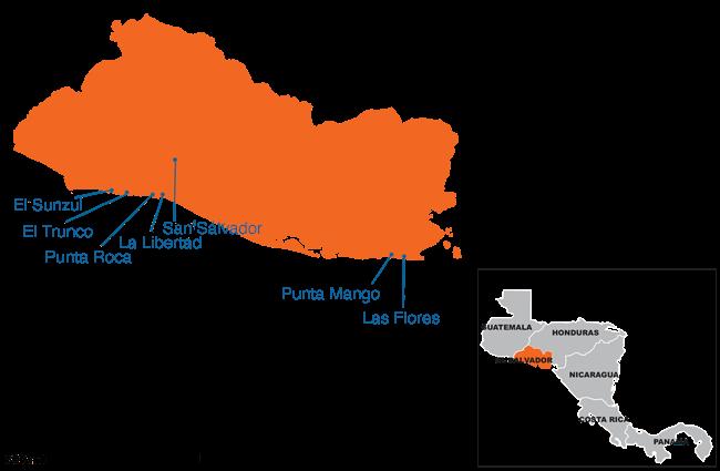 El Salvador - Country map image