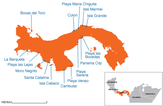 Panama - Country map image